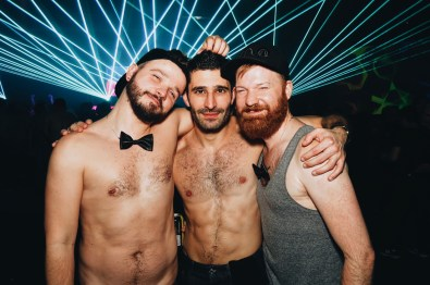 Friends... Couple of Men and Stefan from Nomadic Boys | Whistler Pride 2018 Gay Ski Week © Steve Polyak