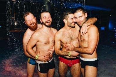 Water Fun with Nomadic Boys and Couple of Men | Whistler Pride 2018 Gay Ski Week © Steve Polyak