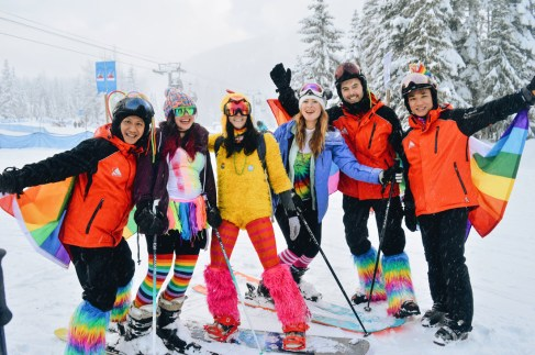 Get ready for the Pride Parade | Whistler Pride 2018 Gay Ski Week © Coupleofmen.com