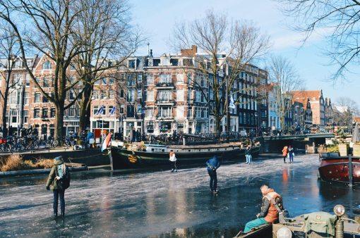 Houseboat Museum Amsterdam   Amsterdam Frozen Canals © Coupleofmen.com