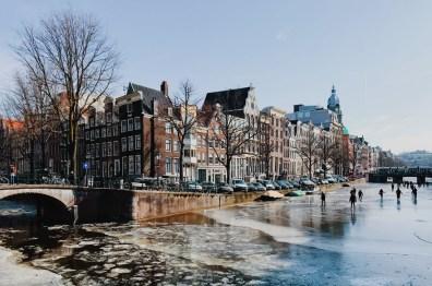 Winter on Amsterdam's Frozen Canals Frozen Keizersgracht | Amsterdam Frozen Canals © Coupleofmen.com