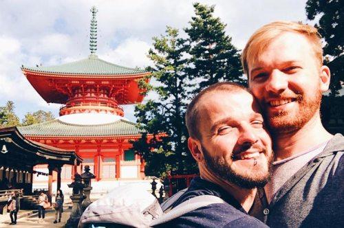 Gay Travel Blogger Karl & Daan in Japan | Koyasan temples Japanese Buddhism Mount Kõya © CoupleofMen.com