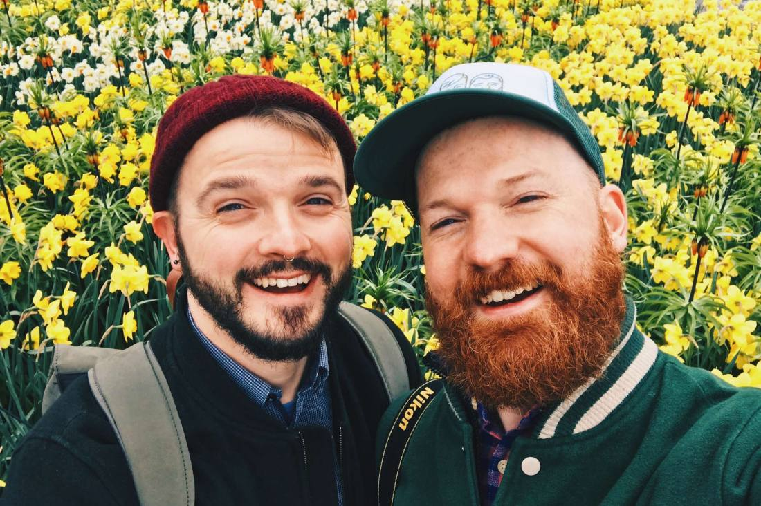 Gay Travel Bloggers Karl Daan Couple of Men Keukenhof Tulip Blossom Holland © Coupleofmen.com