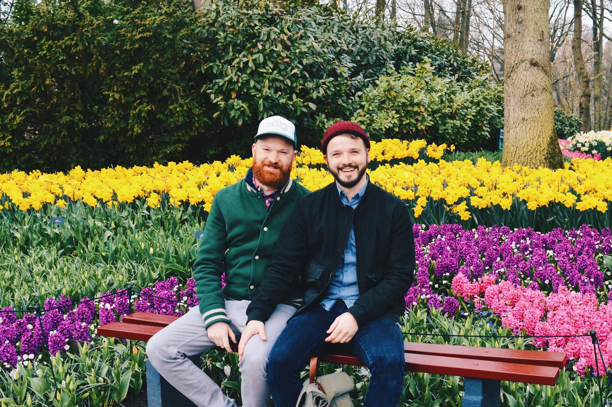 Two men in love with nature   Keukenhof Tulip Blossom Holland © Coupleofmen.com