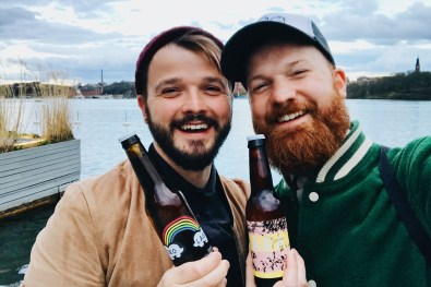 Rainbow Pride Beer at Mälarpaviljongen | Gay Travel Tips for EuroPride 2018 Stockholm © Coupleofmen.com
