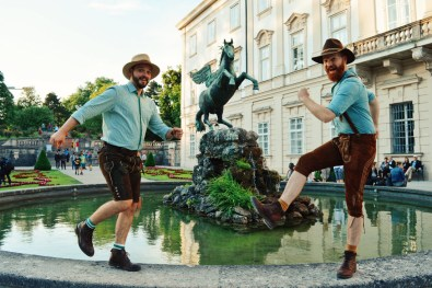"Gay Städtetrip Salzburg Pegasus Fountain at Mirabell Gardens ""Pegasusbrunnen"" 