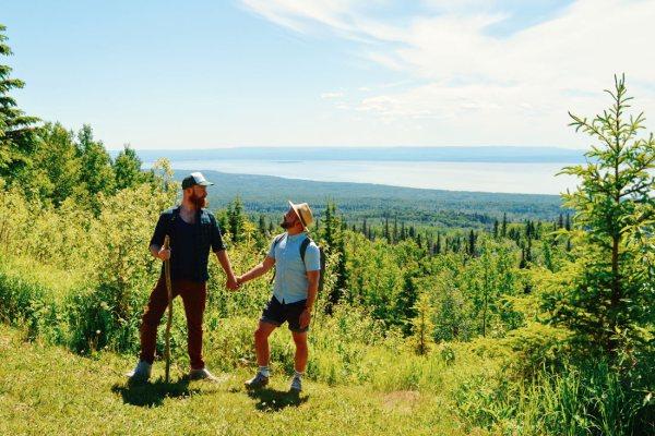 Hiking to Martin Mountain at Lesser Slave Lake   Road Trip Edmonton Northern Alberta © Coupleofmen.com