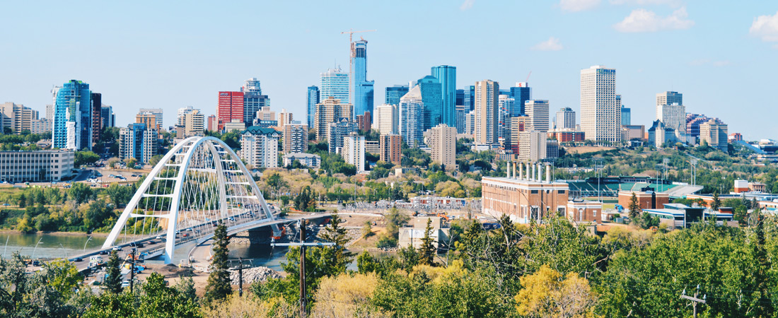 Favorite View of Skyline & River Valley of Edmonton, Alberta's Capital City | Road Trip Edmonton Northern Alberta © Coupleofmen.com