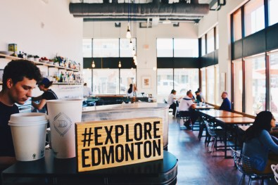 Lunch at District Cafe in Downtown Edmonton #exploreedmonton | Road Trip Edmonton Northern Alberta © Coupleofmen.com