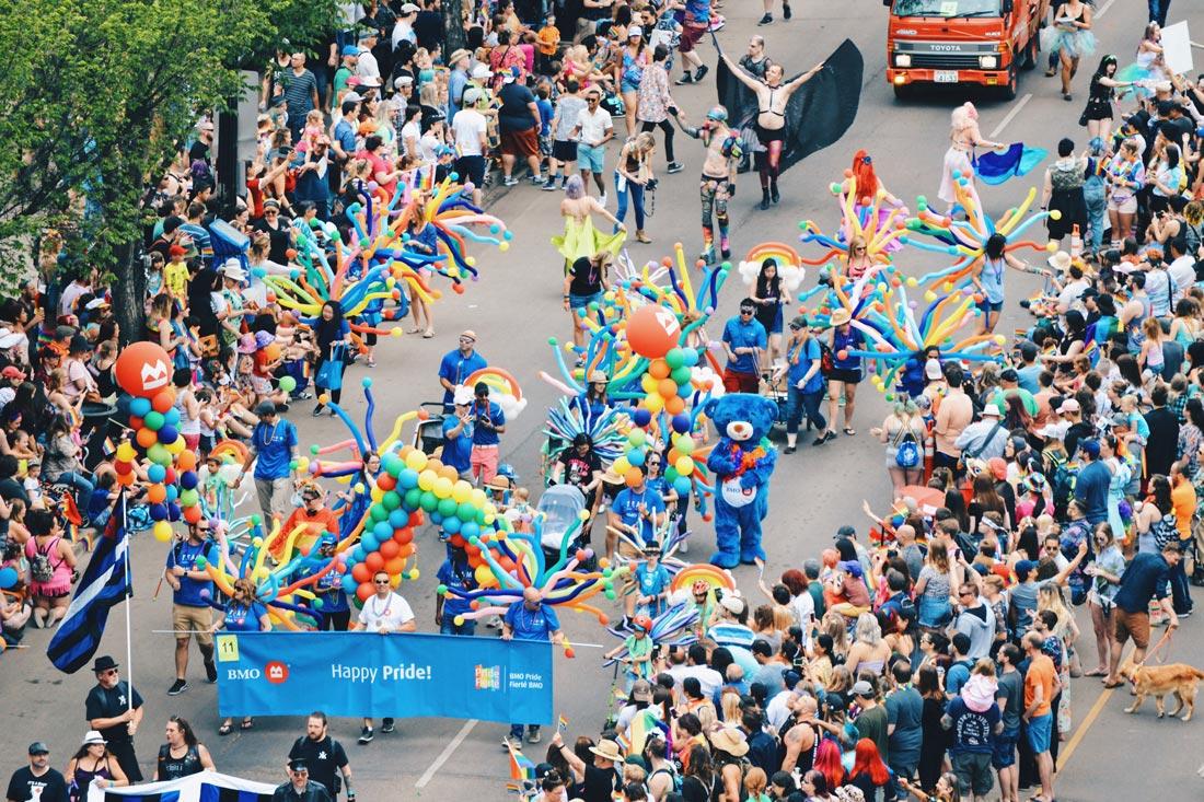 Happy Pride everyone around the world | Gay Edmonton Pride Festival © Coupleofmen.com