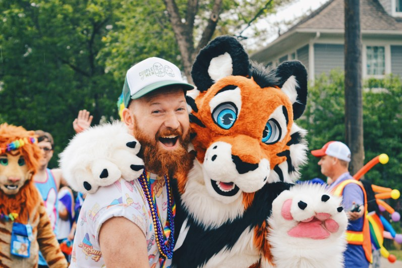 Gay Pride Parade Edmonton Canada A big goup of Furries attended and Daan found is favorite, TIGGER | Gay Edmonton Pride Festival © Coupleofmen.com