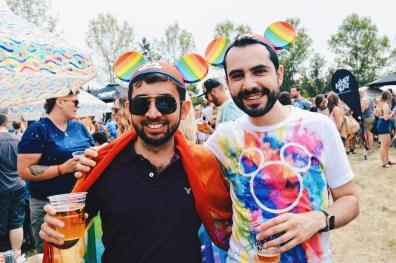 Even Disney's Rainbow Mickey Mouse Ears made it to Edmonton | Gay Edmonton Pride Festival © Coupleofmen.com
