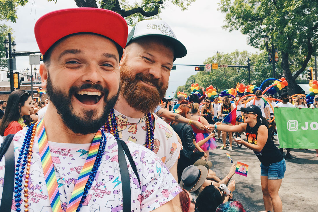 Happy Pride 2018 from Canada! | Gay Edmonton Pride Festival © Coupleofmen.com