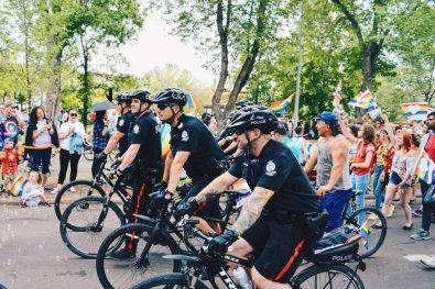 Controversial - Edmonton Police at Gay Pride Parade | Gay Edmonton Pride Festival © Coupleofmen.com