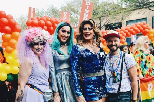 Drag Queen Selfie for Love and Diversity | Gay Edmonton Pride Festival © Coupleofmen.com