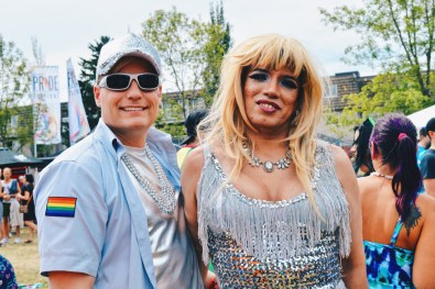 "LGBTQ2S+ beautifully dressed at ""Pride in the Park"" 