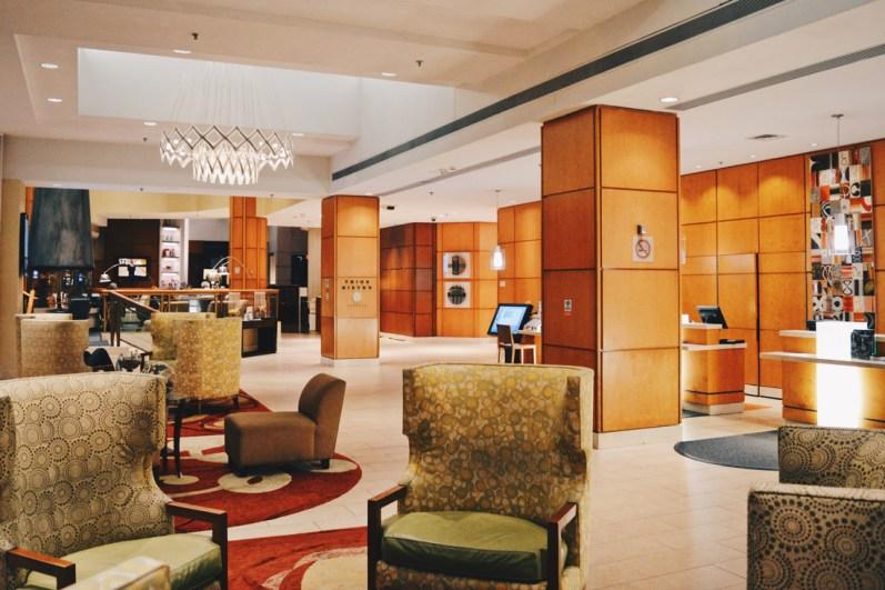 Modern & stylish Hotel Lobby | Marriott Downtown Toronto Eaton Centre © Coupleofmen.com