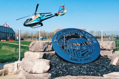 Colorful helicopters of Niagara Helicopter Limited | Must Do's Niagara Falls Canada © Coupleofmen.com