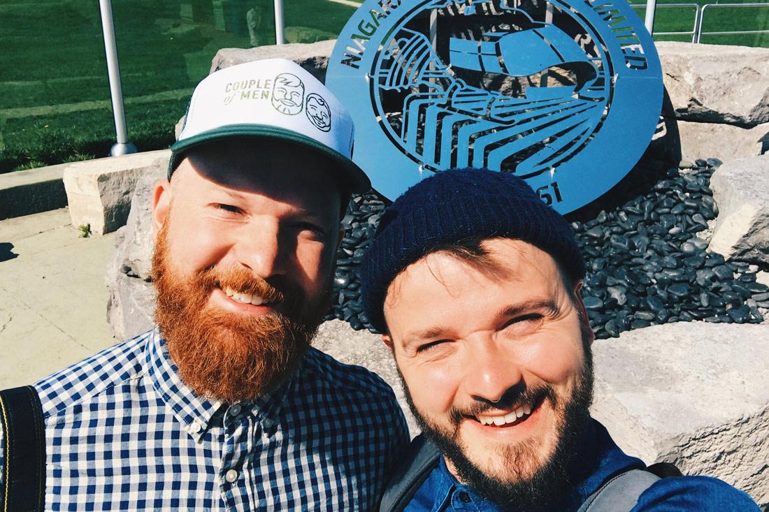 Gay Selfie before our Niagara Flight