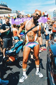 Sexy men dressed in sexy rainbow outfits | CSD Berlin Gay Pride 2018 © Coupleofmen.com