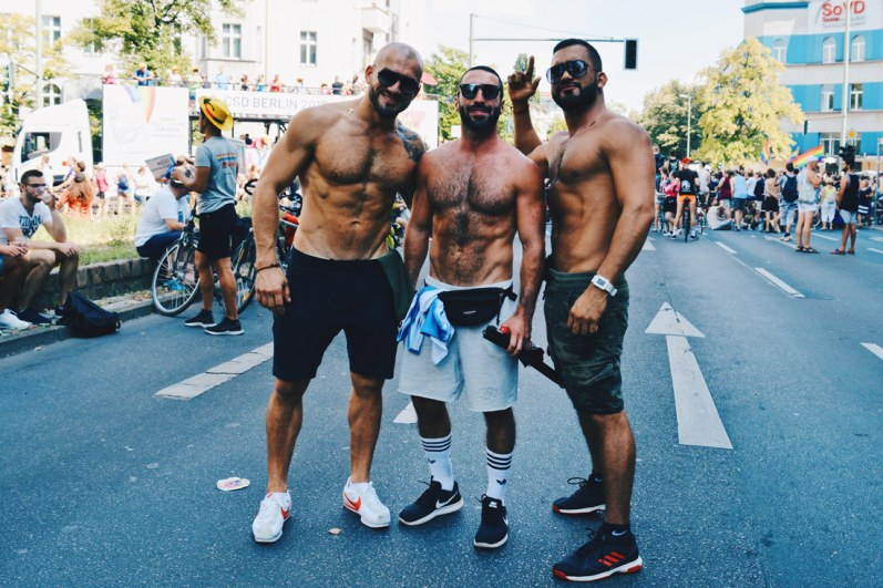 Hot and sexy - muscled gay guys from all around the world | CSD Berlin Gay Pride 2018 © Coupleofmen.com