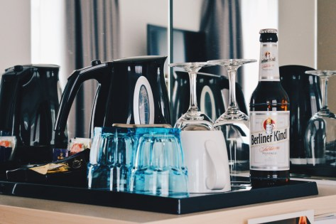 Complimentary Minibar with daily refill and original Berliner Kindl Beer | Scandic Berlin Kurfürstendamm gay-friendly Hotel © Coupleofmen.com
