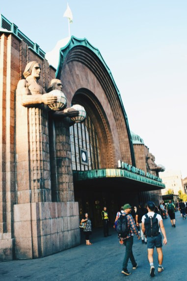 Passing by Helsinki Central Station on our Tom of Finland City | Klaus K Hotel Helsinki Gay-friendly Tom of Finland Package © Coupleofmen.com