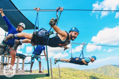 Gay Travel Journal Costa Rica And here we fly away like Superman at Diamante Eco Adventure Park | Gay-friendly Costa Rica © Coupleofmen.com