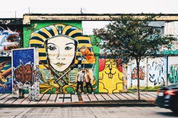 Gay Travel Journal Costa Rica Graffiti selfie in Costa Rica's capital city San José | Gay-friendly Costa Rica © Coupleofmen.com