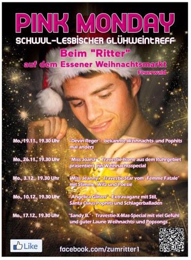 Gay Weihnachtsmärkte Deutschland Schwul Lesbischer Glühweintreff Essen 2018 © Zum Ritter at Pink Monday at Christmas Market in Essen, Germany
