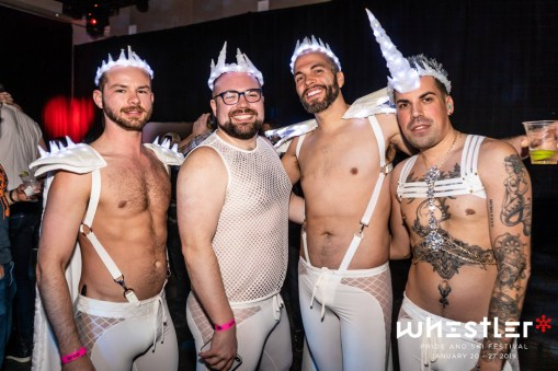 Whistler Pride Ski Festival Whistler Pride Gay Skiwoche Sexy Unicorns have to part of Whistler Pride Main Event - Snowball 2019 © Whistler Pride/ Photo by Darnell Collins