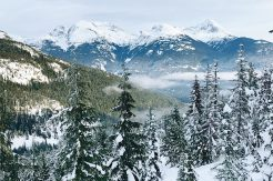 Whistler Pride Gay Skiwoche Spectacular Mountain View in British Columbia during Whistler Pride and Ski Festival 2019 © Coupleofmen.com