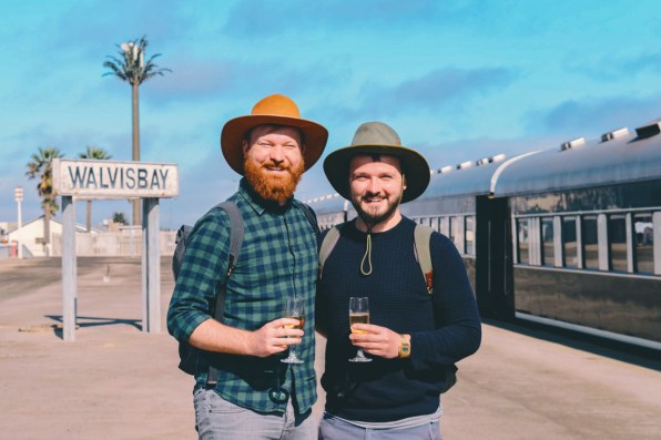 Welcome onboard the Rovos Rail train at the Walvis Bay Station in Namibia © Coupleofmen.com