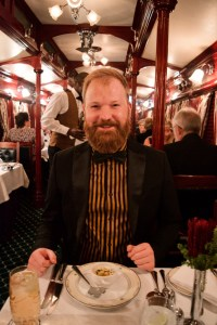 Daan is happy about the diverse vegetarian menu specially prepared for him! © Coupleofmen.com
