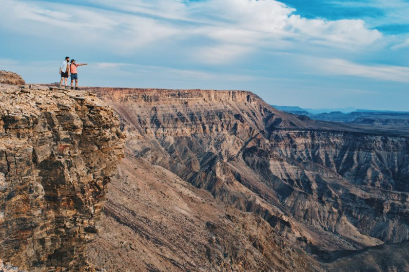 Wow! The view was spectacular and we were even able to see a small left over of the Fish River in the canyon! © Coupleofmen.com