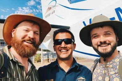 Selfie with our lovely pilot from Desert Air before our flight to Sossusvlei © Coupleofmen.com