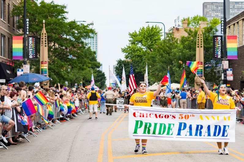 Chicago Gay City Tipps Opening - Chicago's 50th Annual Pride Parade: Chicago Pride Parade 2019 © Coupleofmen.com