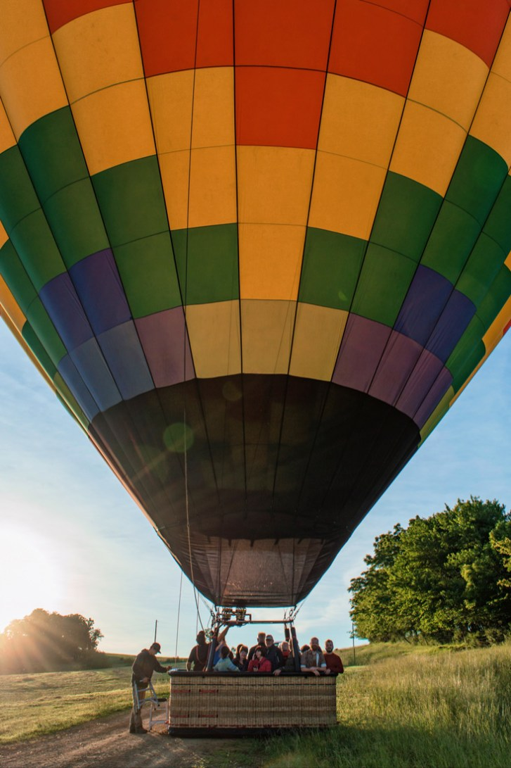 Gay Galena LGBT Getaway Illinois Galena Illinois Road Trip Galena Illinois Road Trip Galena Gay Getaway Illinois Balloon from Galena on the Fly in rainbow colors © Coupleofmen.com
