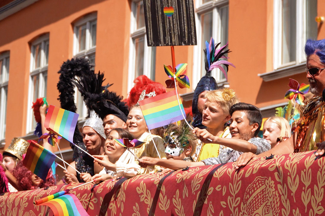 Gay Pride Malmö 2019 Laughing, dancing, celebrating together - All generations of LGBTQ+ and allies united © Coupleofmen.com