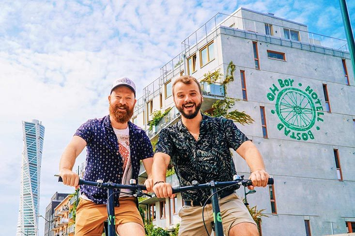Gay-friendly Ohboy Bike Hotel Malmö © Coupleofmen.com