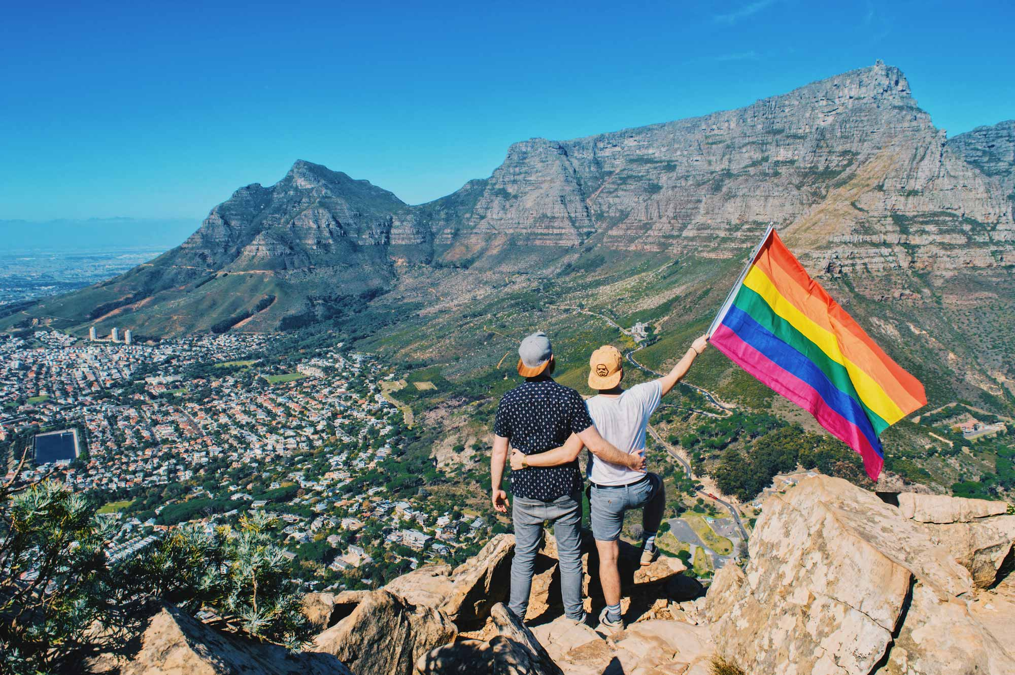 Gay Couple City Trip Cape Town Gay City Trip Cape Town © Coupleofmen.com