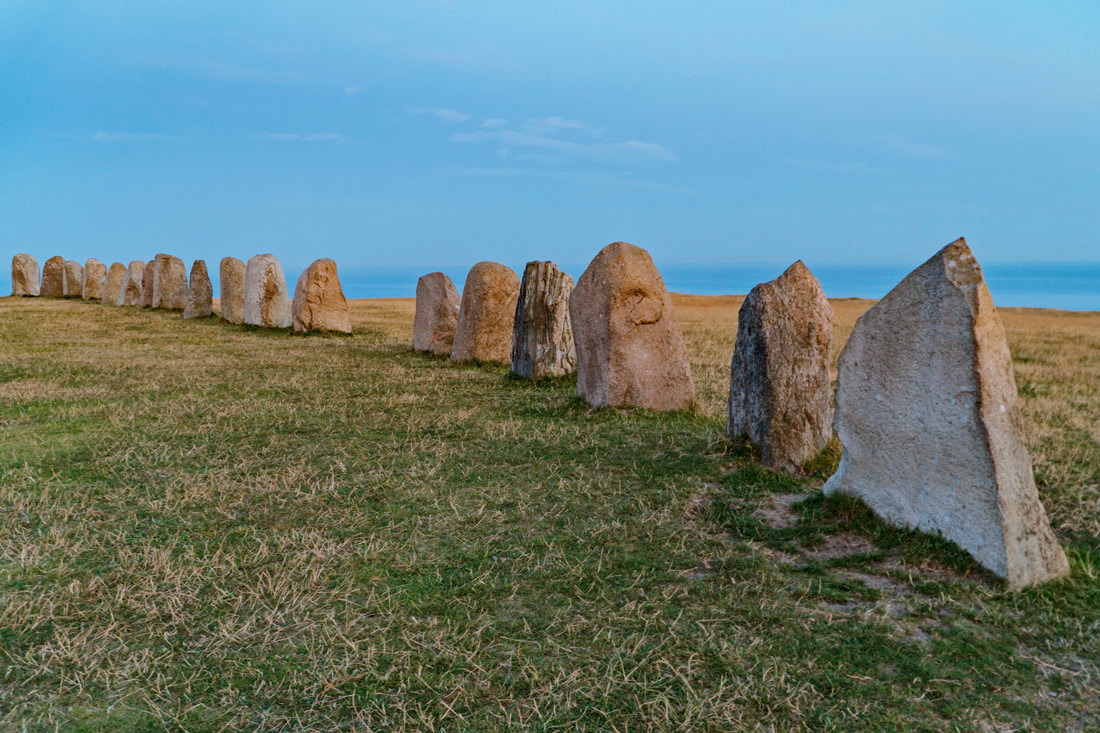 Probably built in the Nordic Iron Age: the Ales Stenar Stone Ship © Coupleofmen.com