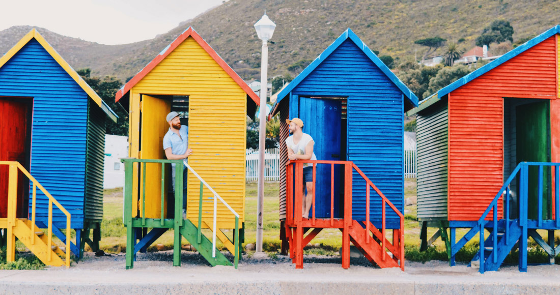Some of St. James landmarks: The colored Beach Huts © Coupleofmen.com