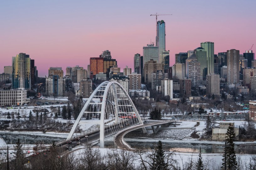 Winter in Edmonton, capital city of Alberta