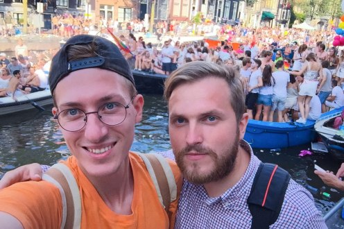 Same-Sex Marriage in Russia Homo-Ehe in Russland Gay Marriage in Russia Happily arm-in-arm: Gay Couple Pavel & Evgenii during Amsterdam Pride © Pavel Stotcko & Evgenii Voitsekhovskii