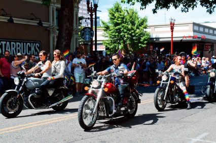 Essential part of every Pride Parade: The Dykes on their Bikes © Coupleofmen.com