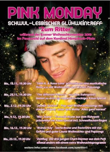 Schwul Lesbischer Glühweintreff Essen 2019 © Zum Ritter at Pink Monday at Christmas Market in Essen, Germany