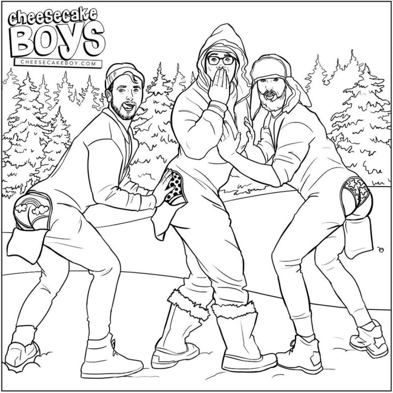 Paulyworld and his Cheesecake Boys Gay Artwork on Instagram