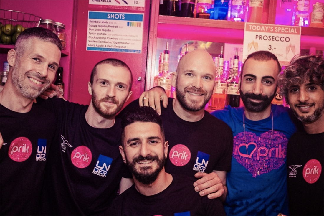 Selfie of the PRIK founders Gerson and Jelger with the handsome PRIK team