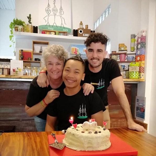 Birthday boy Talo and his family